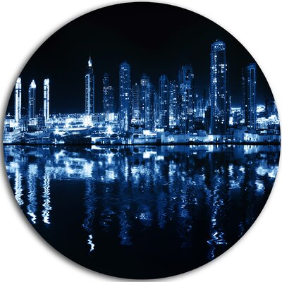 'Glowing City at Midnight' Photographic Print on Metal MT9126-C11