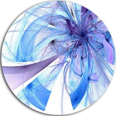 'Blue Fractal Flower Pattern' Graphic Art Print on Metal MT11982-C11