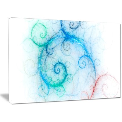 'Beautiful Blue Fractal Pattern' Graphic Art on Wrapped Canvas PT15837-40-30