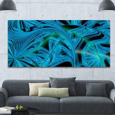 'Blue Winter Fractal Pattern' Graphic Art on Canvas PT15970-60-28