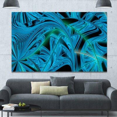 'Blue Winter Fractal Pattern' Graphic Art on Canvas PT15970-60-40