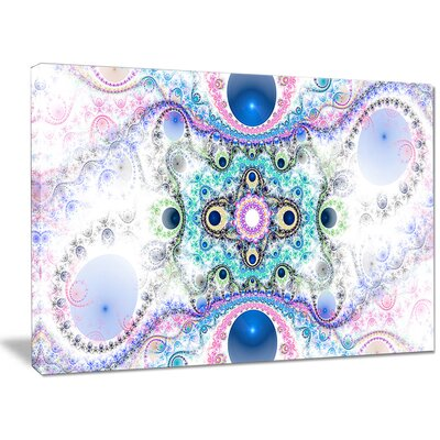 'Cryptical Blue Fractal Pattern' Graphic Art on Wrapped Canvas PT16102-40-30