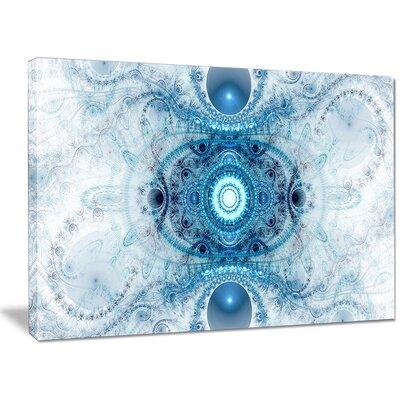 'Light Blue Fractal Pattern' Graphic Art on Wrapped Canvas PT16103-40-30