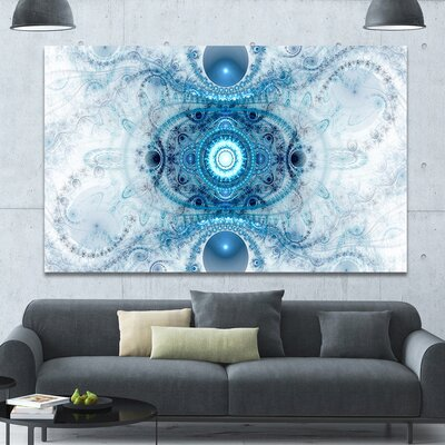 'Light Blue Fractal Pattern' Graphic Art on Wrapped Canvas PT16103-60-40