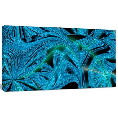 'Blue Winter Fractal Pattern' Graphic Art on Canvas PT15970-32-16