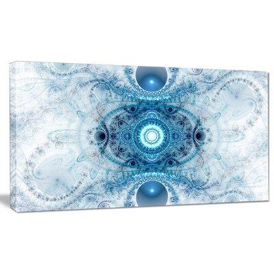 'Light Blue Fractal Pattern' Graphic Art on Wrapped Canvas PT16103-20-12