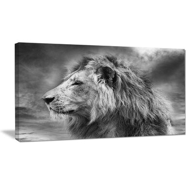 'Grey Wild African Lion' Photographic Print on Wrapped Canvas PT15731-20-12