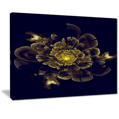 "'Golden Metallic Fractal Flower' Photographic Print on Canvas Size: 20 "" W x 12 "" H EAAE7843 39319094"
