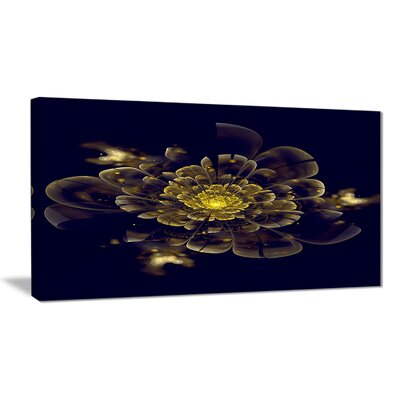 "'Golden Metallic Fractal Flower' Photographic Print on Canvas Size: 40 "" W x 20 "" H EAAE7843 39319096"