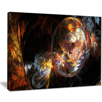 "'Bubble Smoke Golden' Graphic Art Print on Canvas Size: 20 "" W x 12 "" H EAAE8378 39321257"