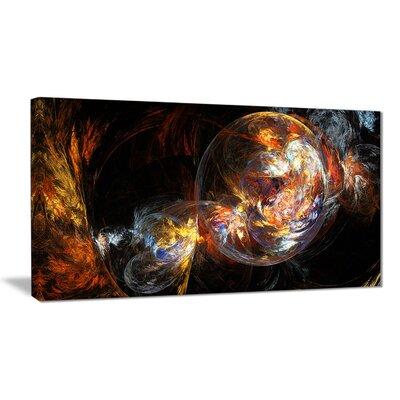 "'Bubble Smoke Golden' Graphic Art Print on Canvas Size: 40 "" W x 20 "" H EAAE8378 39321259"