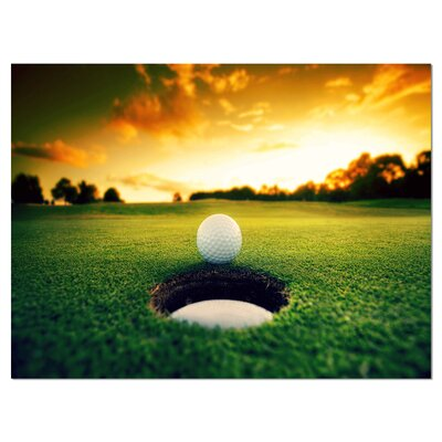 'Golf Ball Near Hole' Photographic Print on Wrapped Canvas PT14848-40-30