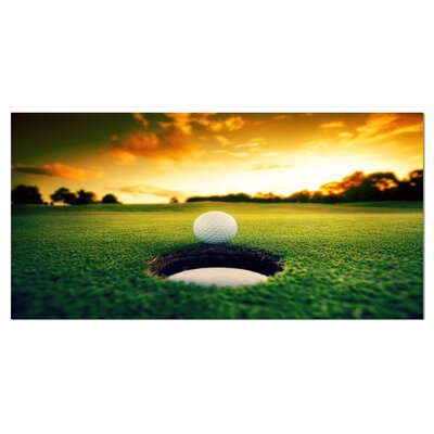 'Golf Ball Near Hole' Photographic Print on Wrapped Canvas PT14848-60-28