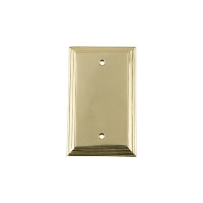 Deco Light Socket Plate Finish: Unlacquered Brass