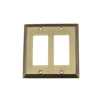 Deco Light Switch Plate Finish: Antique Brass