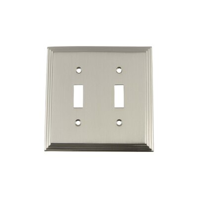 Deco Light Switch Plate Finish: Satin Nickel