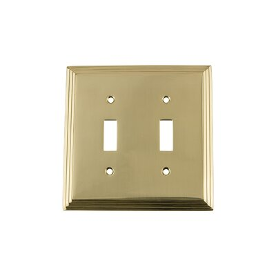 Deco Light Switch Plate Finish: Unlacquered Brass
