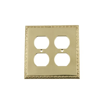 Egg & Dart Light Switch Plate Finish: Unlacquered Brass