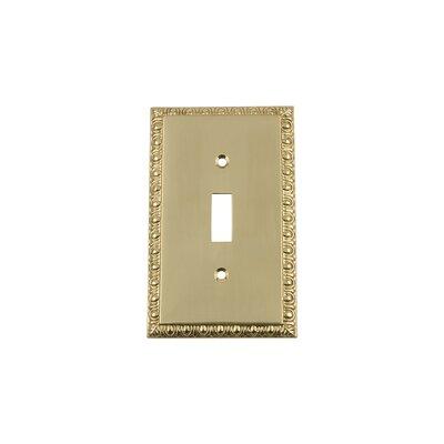 Egg & Dart Light Switch Plate Finish: Unlacquered Brass