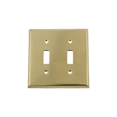New York Light Switch Plate Finish: Unlacquered Brass