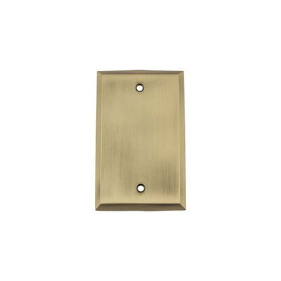 New York Light Socket Plate Finish: Antique Brass
