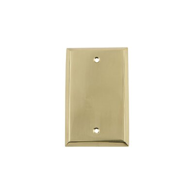 New York Light Socket Plate Finish: Unlacquered Brass