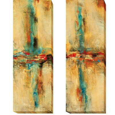 'Equilibrio I and II' 2 Piece Print Set on Wrapped Canvas Size: 24