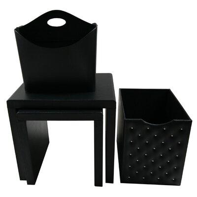 4 Piece Nesting Table Color: Black