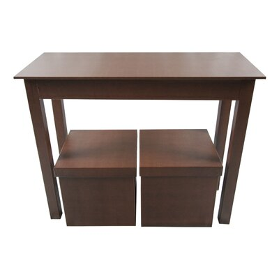 Console Table and 2 Matching Storage Ottoman