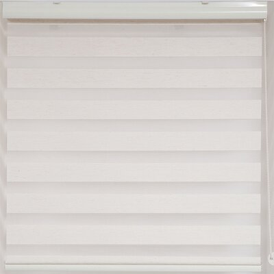Zebra Semi-Sheer Roller Shade Size: 60 W x 78 L, Finish: Off-White