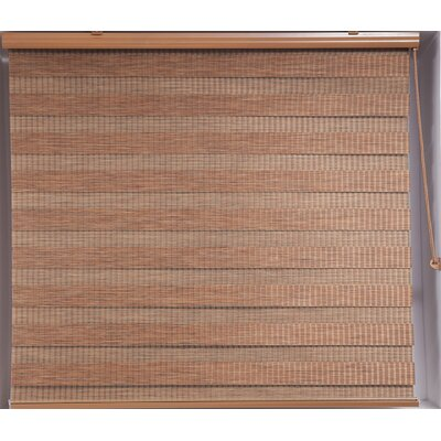 Zebra Blackout Striped Roller Shade Size: 36 W x 78 L, Finish: Bamboo Inspired