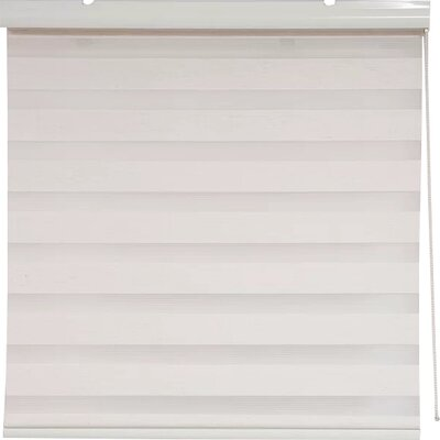 Zebra Semi-Sheer Roller Shade Size: 54 W x 78 L, Finish: Off-White