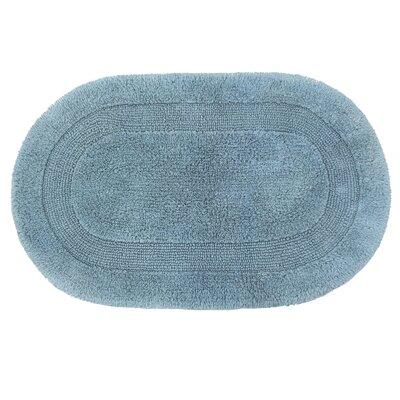 Solid Reversible Bath Rug Size: 60 L x 24 W, Color: Slate