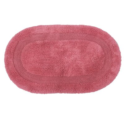 Fuchsia Cotton Area Rug Size: 24 L x 17 W, Color: Coral