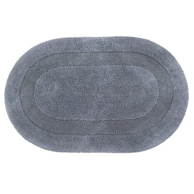Fuchsia Solid Reversible Bath Rug Size: 24 L x 17 W, Color: Steel Gray