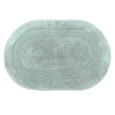 Solid Reversible Bath Rug Size: 24 L x 17 W, Color: Spruce Green