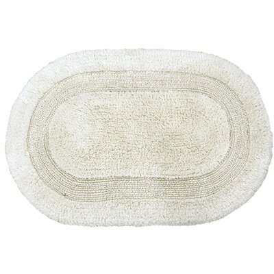 Solid Reversible Bath Rug Size: 34 L x 21 W, Color: Ivory