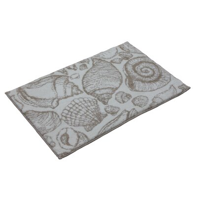 Toi Shell Bath Rug Color: Smoke Grey