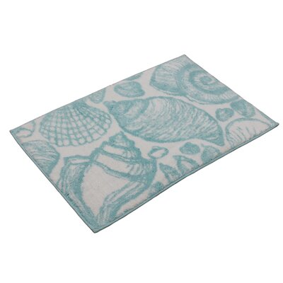 Toi Shell Bath Rug Color: Turquoise