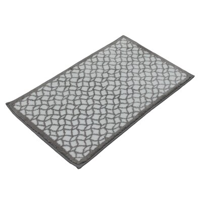 Stain Glass Bath Rug Color: Dove