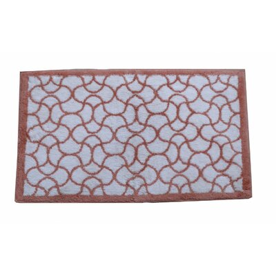 Oliva Bath Rug Color: Coral