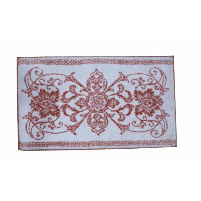 Theodora Bath Rug Color: Coral