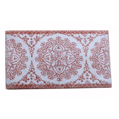 Filigris Bath Rug Color: Coral
