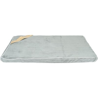 Memory Foam Dog Bed Color: Gray/Brown