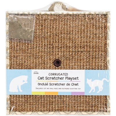 Square Cat Scratching Board