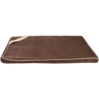 Memory Foam Dog Bed Color: Brown/Tan