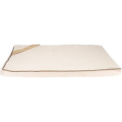 Memory Foam Dog Bed Color: Tan/Cream