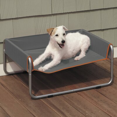 Pet Cot Size: Large (27.5 L x 35.5 W), Color: Gray