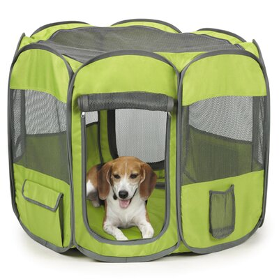 45.5 Home N Go Pet Pen Size: Large, Color: Green