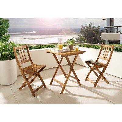 2-Sitzer Balkonset Belle | Garten > Balkon > Balkon-Sets | Naturalbrown | Akazienholz - Holz - Massivholz - Rattan | SAM Stil Art Möbel GmbH